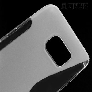 Силиконовый чехол для Samsung Galaxy S6 Edge+ ColorCase - Прозрачный