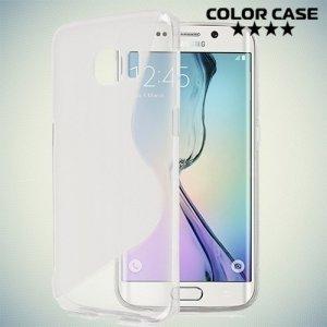 Силиконовый чехол для Samsung Galaxy S6 Edge - прозрачный S-образный