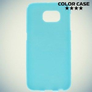 Силиконовый чехол для Samsung Galaxy S6 - голубой