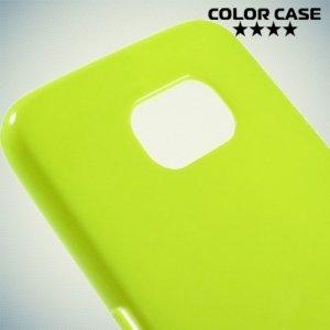 Силиконовый чехол для Samsung Galaxy S6 - зеленый