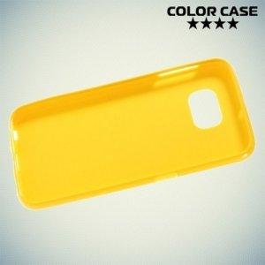 Силиконовый чехол для Samsung Galaxy S6 - желтый