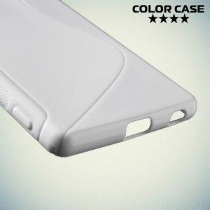 Силиконовый чехол для Sony Xperia Z3+ - белый S-образный