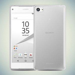Силиконовый чехол для Sony Xperia Z5 Compact - Глянцевый Белый