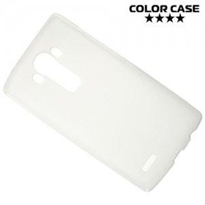 Силиконовый чехол накладка для LG G4 - белый