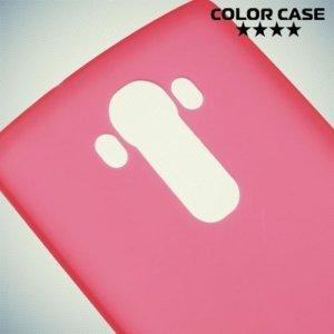 Силиконовый чехол накладка для LG G4 - красный