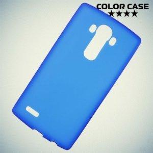 Силиконовый чехол накладка для LG G4 - синий