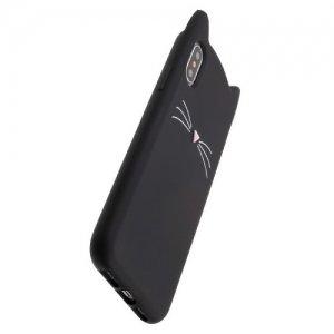 Силиконовый чехол с ушками для iPhone Xs / X