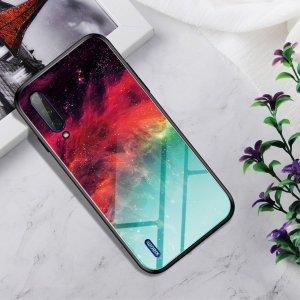 Силиконовый Градиентный Устойчивый к Царапинам Стеклянный Чехол для Xiaomi Mi A3 Звездные Облака