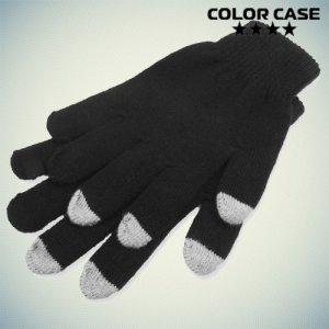Умные перчатки для емкостных сенсорных экранов серые