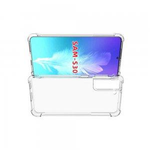 Spectrum Силиконовый противоударный прозрачный чехол для Samsung Galaxy S21