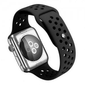 Спортивный силиконовый ремешок для Apple Watch 42-44mm 2/3/4 Series Черный