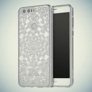 Sulada силиконовый чехол для Huawei Honor 8 с объемным орнаментом - Прозрачный