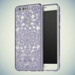 Sulada силиконовый чехол для Huawei Honor 8 с объемным орнаментом - Фиолетовый