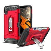 Защитный чехол для iPhone XR с подставкой и отделением для карты - Черный