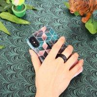 Двухслойный защитный чехол для iPhone XS Max - с тиснением в виде ромба