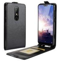 Флип чехол книжка вертикальная для Nokia 6.1 Plus - Черный