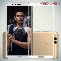 3D Защитное стекло для Huawei Honor 7X - Белый Red Line