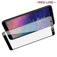 3D Защитное стекло для Samsung Galaxy A6 Plus 2018 - Черный Red Line