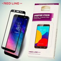 3D Защитное стекло для Samsung Galaxy J8 2018 - Черное Red Line