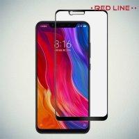 3D Защитное стекло для Xiaomi Mi 8 - Черный Red Line