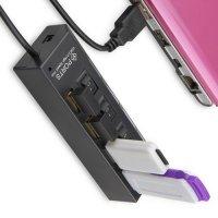 4 USB хаб концентратор для передачи данных с отдельными переключателями