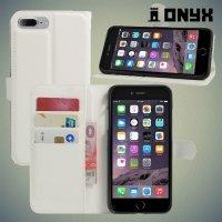Чехол книжка для iPhone 8 Plus / 7 Plus - Белый