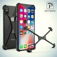 Алюминиевый бампер для защиты углов и камеры для iPhone Xs / X – Черный