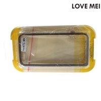Алюминиевый металлический бампер для HTC One M9 LoveMei - Черный