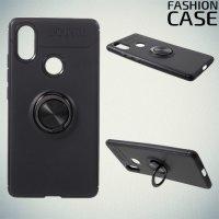 ArmaRing Двухкомпонентный чехол для Xiaomi Mi 8 SE с кольцом для магнитного автомобильного держателя - Черный