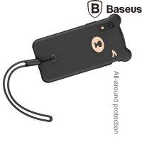 Baseus Силиконовый защитный чехол для iPhone XR Мишка