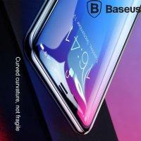 Baseus защитное стекло 3D для iPhone XR на весь экран с закругленными краями - Черный