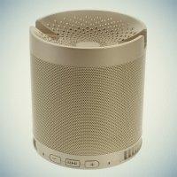 Беспроводная Bluetooth колонка подставка для телефона - Золотая