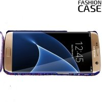 Блестящий чехол кейс для Samsung Galaxy S7 Edge - Фиолетовый
