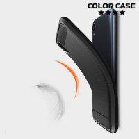 Carbon Силиконовый матовый чехол для ASUS Zenfone Live L1 ZA550KL - Черный