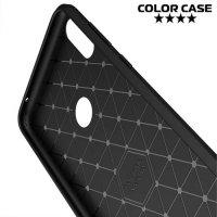 Carbon Силиконовый матовый чехол для Asus Zenfone Max Pro (M1) ZB601KL / ZB602KL - Черный