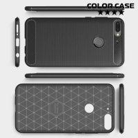 Carbon Силиконовый матовый чехол для HTC Desire 12 Plus - Черный