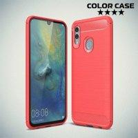 Carbon Силиконовый матовый чехол для Huawei Honor 10 Lite - Коралловый