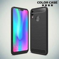 Carbon Силиконовый матовый чехол для Huawei Honor 8C - Черный