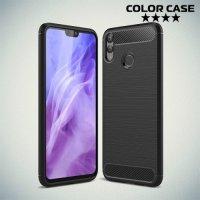Carbon Силиконовый матовый чехол для Huawei Honor 8X - Черный