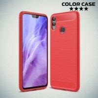 Carbon Силиконовый матовый чехол для Huawei Honor 8X - Коралловый