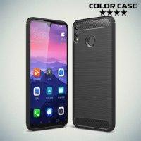 Carbon Силиконовый матовый чехол для Huawei Honor 8X Max - Черный