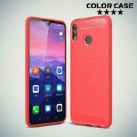 Carbon Силиконовый матовый чехол для Huawei Honor 8X Max - Коралловый