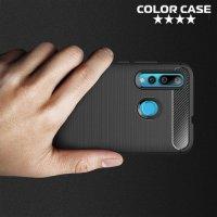 Carbon Силиконовый матовый чехол для Huawei nova 4 - Черный