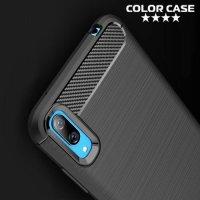 Carbon Силиконовый матовый чехол для Huawei Y7 Pro 2019 - Коралловый