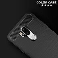 Carbon Силиконовый матовый чехол для LG G7 ThinQ - Черный
