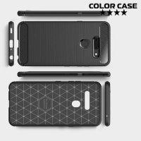 Carbon Силиконовый матовый чехол для LG G8 ThinQ - Черный