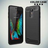Carbon Силиконовый матовый чехол для LG K8 2018 - Черный