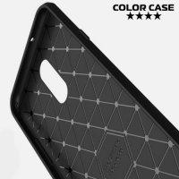 Carbon Силиконовый матовый чехол для LG Q7 / Q7+ / Q7a - Черный