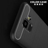 Carbon Силиконовый матовый чехол для Samsung Galaxy A6 2018 SM-A600F - Черный