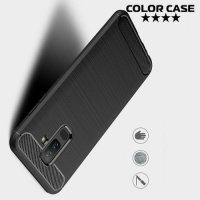 Carbon Силиконовый матовый чехол для Samsung Galaxy A6 Plus 2018 - Черный